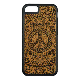 Capa iPhone 8/ 7 Carved Mandala celta do sinal de paz