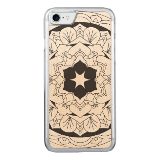 Capa iPhone 8/ 7 Carved Mandala floral esboçada 060517_4