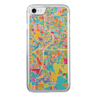 Capa iPhone 8/ 7 Carved Mapa colorido de Atlanta