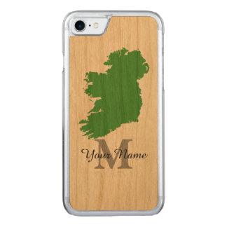 Capa iPhone 8/ 7 Carved mapa de Ireland monogrammed