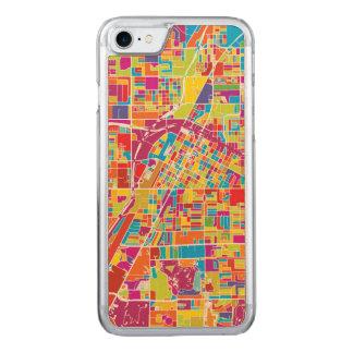Capa iPhone 8/ 7 Carved Mapa de Las Vegas colorido, Nevada