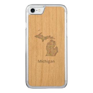 Capa iPhone 8/ 7 Carved Mapa de Michigan