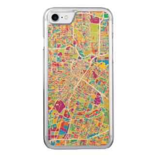 Capa iPhone 8/ 7 Carved Mapa de néon de Houston, Texas |