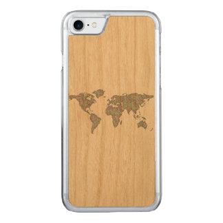 Capa iPhone 8/ 7 Carved Mapa do mundo