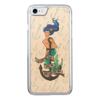Capa iPhone 8/ 7 Carved mermaid_msblue_slimwood
