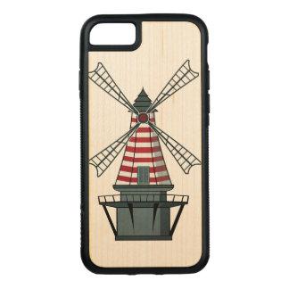 Capa iPhone 8/ 7 Carved Moinho de vento de Holland
