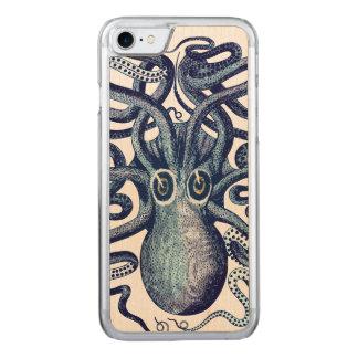 Capa iPhone 8/ 7 Carved Monstro de mar azul do polvo