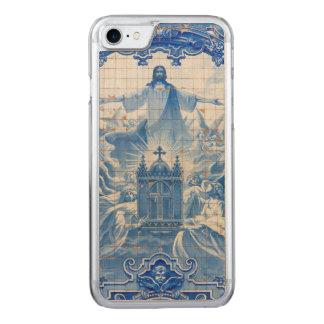 Capa iPhone 8/ 7 Carved Mosaico azul do azulejo de jesus, Portugal