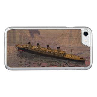Capa iPhone 8/ 7 Carved Navio titânico que afunda-se - 3D rendem