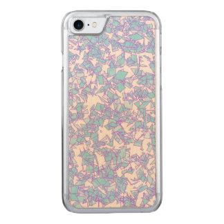 Capa iPhone 8/ 7 Carved Neve futurista cor-de-rosa azul do laser do mundo