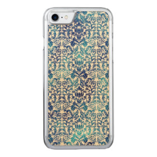 Capa iPhone 8/ 7 Carved Niagara e damasco azul de Shibori do Batik de