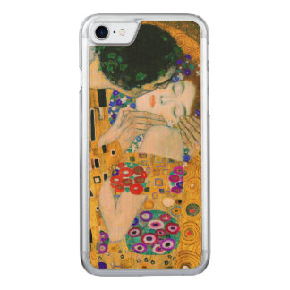 Capa iPhone 8/ 7 Carved O beijo por Gustavo Klimt