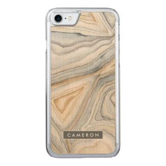 Capa iPhone 8/ 7 Carved O cinza marmoreou o design abstrato