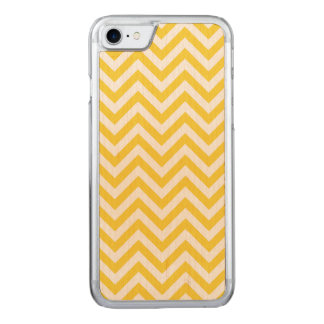 Capa iPhone 8/ 7 Carved O ziguezague amarelo e branco listra o teste