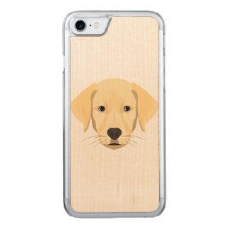 Capa iPhone 8/ 7 Carved Ouro Retriver do filhote de cachorro da ilustração