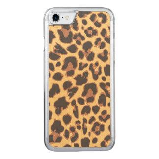Capa iPhone 8/ 7 Carved Padrões da pele animal do impressão do leopardo