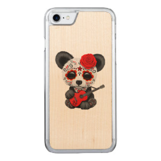 Capa iPhone 8/ 7 Carved Panda vermelha do crânio do açúcar que joga a