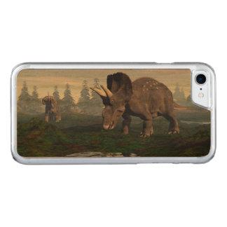 Capa iPhone 8/ 7 Carved Passeio de dois dinossauros de