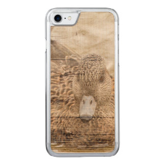 Capa iPhone 8/ 7 Carved Pato selvagem da lagoa do woodgrain da casa do