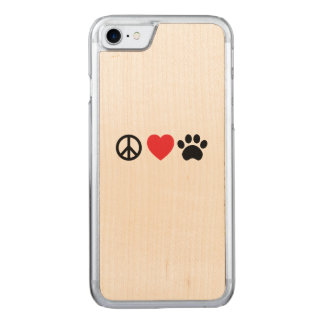 Capa iPhone 8/ 7 Carved Paz, amor, pata