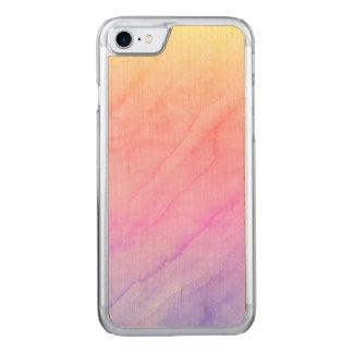 Capa iPhone 8/ 7 Carved Pedra da aguarela de Shell da madrepérola