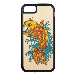 Capa iPhone 8/ 7 Carved Peixe dourado colorido Koi