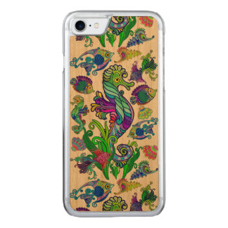 Capa iPhone 8/ 7 Carved Peixes exóticos & cavalos marinhos da vida marinha