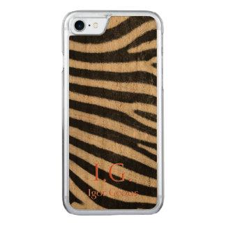 Capa iPhone 8/ 7 Carved Pele da zebra
