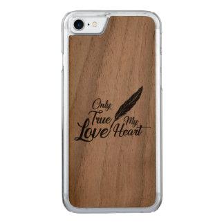 Capa iPhone 8/ 7 Carved Pena verdadeira do amor da ilustração