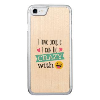 Capa iPhone 8/ 7 Carved Pessoas loucas de Emoji do amor