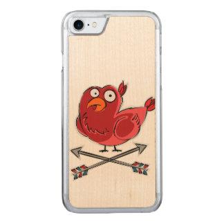 Capa iPhone 8/ 7 Carved Pouca ilustração do passarinho