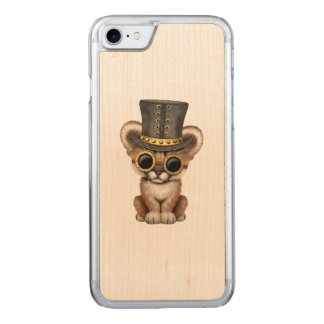 Capa iPhone 8/ 7 Carved Puma bonito Cub do bebê de Steampunk
