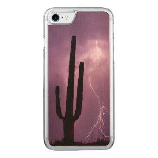 Capa iPhone 8/ 7 Carved Relâmpago e cacto roxos, AZ