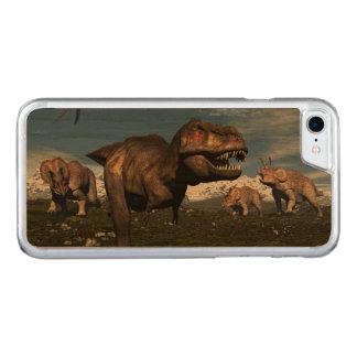 Capa iPhone 8/ 7 Carved Rex do tiranossauro atacado pelo dinossauro do