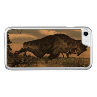 Capa iPhone 8/ 7 Carved Rex do tiranossauro que ruje em um triceratops