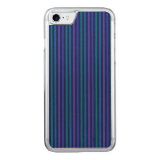 Capa iPhone 8/ 7 Carved Roxo do verde azul de listras verticais