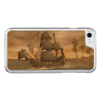 Capa iPhone 8/ 7 Carved Sair do navio de pirata - 3D render.j