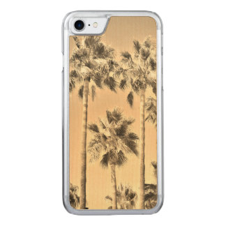 Capa iPhone 8/ 7 Carved Sepia tropical das palmeiras do vintage