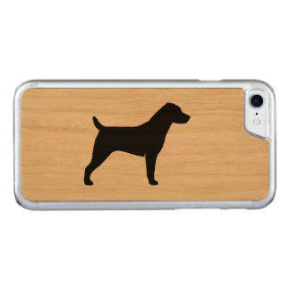 Capa iPhone 8/ 7 Carved Silhueta de Jack Russell Terrier
