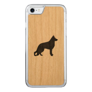 Capa iPhone 8/ 7 Carved Silhueta do cão de german shepherd