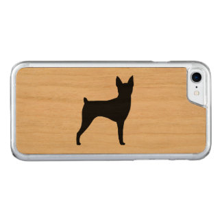 Capa iPhone 8/ 7 Carved Silhueta do Fox Terrier do brinquedo