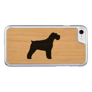 Capa iPhone 8/ 7 Carved Silhueta do Schnauzer