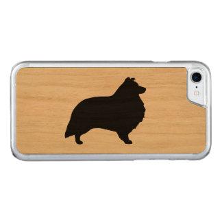 Capa iPhone 8/ 7 Carved Silhueta do Sheepdog de Shetland