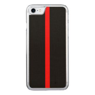 Capa iPhone 8/ 7 Carved Símbolo fino de Blue Line em a