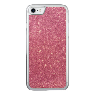 Capa iPhone 8/ 7 Carved Sparkles do brilho do rosa quente