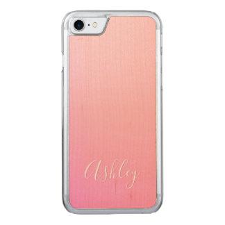 Capa iPhone 8/ 7 Carved Sua gradação cor-de-rosa do nome ou da palavra  