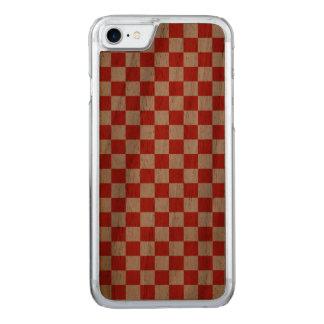 Capa iPhone 8/ 7 Carved Tabuleiro de damas vermelho