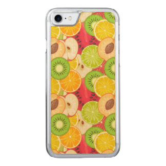 Capa iPhone 8/ 7 Carved Teste padrão colorido da fruta do divertimento