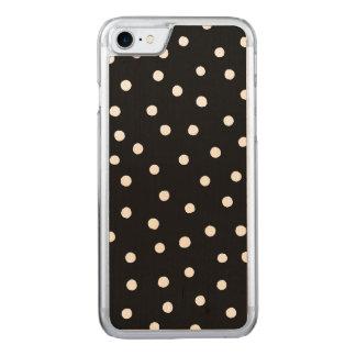 Capa iPhone 8/ 7 Carved Teste padrão de pontos preto e branco dos confetes