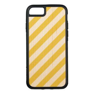 Capa iPhone 8/ 7 Carved Teste padrão diagonal amarelo e branco das listras